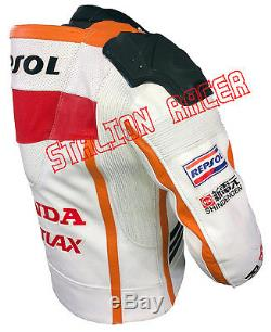 New REPSOL Perforated Moto gp Motorbike/Motorcycle Racing Cowhide Leather Jacket