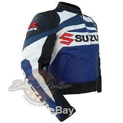 New Suzuki Gsx Motorbike Motorcycle Biker Cowhide Leather Armoured Pant/trouser Ebay Motors