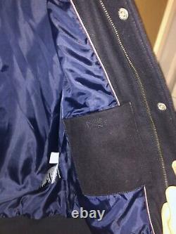 New Tommy Hilfiger Baseball Jacket Leather White sleeves Blue Age 16 Years 176