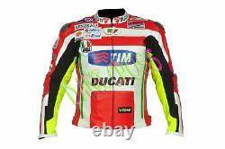 Nickey Hayden Motorbike Motorcycle Moto gp Ducati Corse Racing Leather Jacket