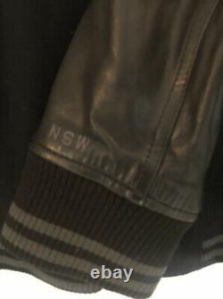 Nike Destroyer Varsity Jacket Leather Sleeves Black Top Boy Grime XL Extra Large
