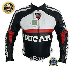 Original Cowhide Leather Certified Armours Ducati Black Motorbike Jacket