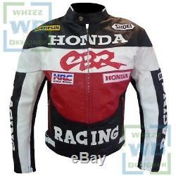 Original Honda CBR Racing MOTORCYCLE LEATHER JACKET Motorbike Gear Cowhide Coat