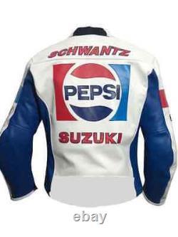 Pepsi Suzuki Motogp Motorbike Leather Jacket Motorcycle Bikers Racing Jacket