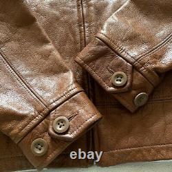 Polo, Ralph Lauren cognac 100% leather jacket for women, girl, boy, size M