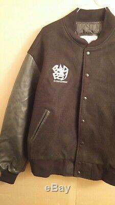 Puff Daddy'Forever' black leather jacket Bad Boy Entertainment by Excelled RARE
