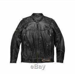 REDUCED! Harley Davidson Men's Tifton Leather Jacket, 97138-17VM, RRP £525, 3XL