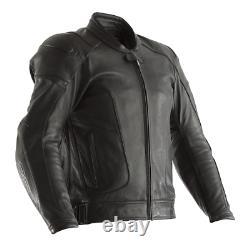 RST GT Leather Sports Motorcycle Motorbike Jacket Black