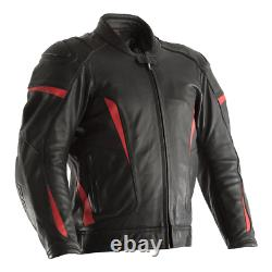 RST GT Leather Sports Motorcycle Motorbike Jacket Black / Red