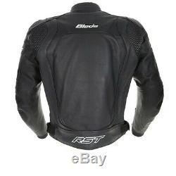 RST Motorbike Motorcycle Track Race Blade 2 Leather Jacket Black