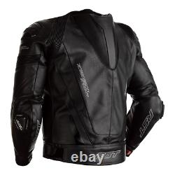 RST Tractech Evo R 2020 Leather Sports Motorcycle Motorbike Jacket Black