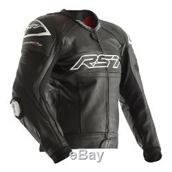 RST Tractech Evo R Leather Sports Motorcycle Motorbike Jacket Black