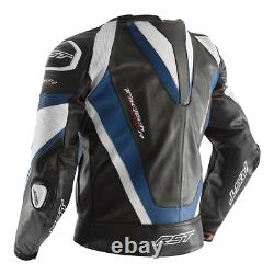 RST Tractech Evo R Leather Sports Motorcycle Motorbike Jacket Black / Blue
