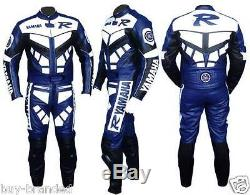 R Motorcycle Racing Cowhide Leather Suit Motorbike Leather Jacket Trouser