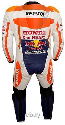 Racing Motorcycle Motorbike Leather Suit Jacket and Trouser 2 Piece and 1 Piece