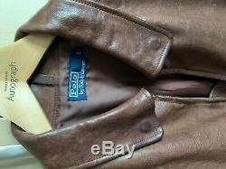 Ralph Lauren Authentic Leather Jacket Size Large