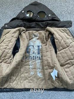 Rare Age 2 Cp Company Leather Mille Miglia Goggle Jacket RRP£495 13ptp 3 1 Boy