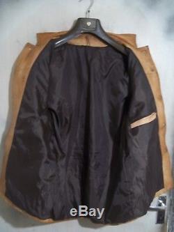 Rare Vintage 60's Levi Fringed Cow Boy Western Leather Jacket Size M Ace Patina