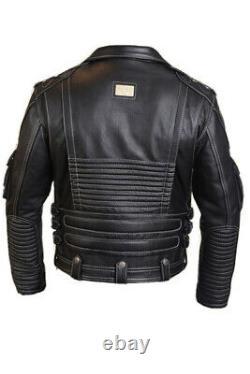 Real Cowhide Leather HD Harley Davidson Biker Jacket (Free delivery worldwide)