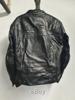Richa Daytona 60s Motorcycle Leather Jacket Black (UK 42, Medium)