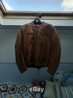 Richa Daytona 60s Motorcycle Leather Jacket, Cognac, 50 Chest