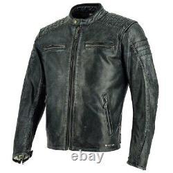 Richa Daytona 60s Motorcycle Motorbike Buffalo Leather Jacket Black