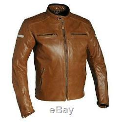Richa Daytona Motorcycle Motorbike Buffalo Leather Jacket Black