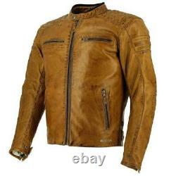 Richa Daytona Motorcycle Motorbike Buffalo Leather Jacket Brown