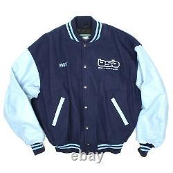 Roots Backstreet Boys BSB Millennium World Tour Jacket 99-00 Blue Wool Leather