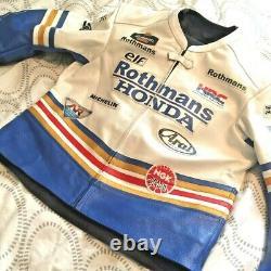 Rothmans Honda Full Race Suit Leathers Bike Jacket RC30 Joey Dunlop Replica