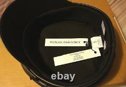 Ruslan Baginskiy Leather Baker Boy Cap in Black size S sold out