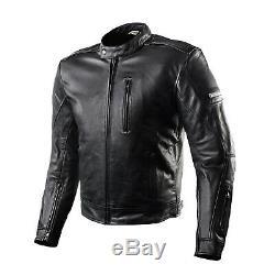 SHIMA HUNTER BLACK Leather Vintage Classic Retro Summer 2018 Motorcycle Jacket