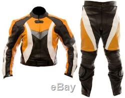 SPORTS Motorbike/Motorcycle Leather Jacket, Pant/Suit Men Racing-CE ARMORED-NEW