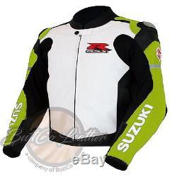 SUZUKI 1078 Motorbike Motorcycle COWHIDE Leather Biker New Colour Jacket ONLINE