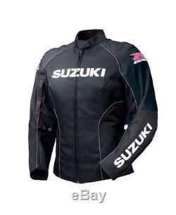 SUZUKI-GSXR-BLACK-Women/Ladies Motorbike/Motorcycle Leather Racing Jacket(Rep)