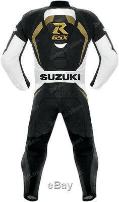 SUZUKI GSXR Biker Leather Suit MOTO GP Motorbike/Motorcycle Leather Jacket Pant