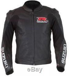SUZUKI GSXR Motorbike Leather Jacket MotoGp Sport Motorcycle Biker Racing XS-4XL