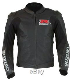 SUZUKI GSXR Motorbike Leather Jacket Motorcycle Sports Racing Leather Jacket CE