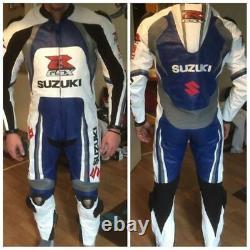 SUZUKI GSXR Motorbike Leather Suit Biker Racing Motorcycle Leather Jacket Pant