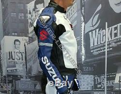 SUZUKI-GSXR-Motorbike/Motorcycle Cowhide Leather Racing Jacket-MEN/WOMEN (Rep)