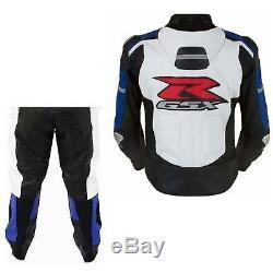 SUZUKI-GSXR-Motorcycle Leather Jacket, Pant/Suit, Motorbike Racing, Biker, RacerRep