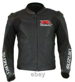 SUZUKI GSXR Motorcycle Racing Leather Jacket Mens Motorbike Leather Jackets