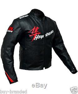 SUZUKI HAYABUSA Motorbike Jacket Leather Motorcycle Jacket Racing Biker Jacket
