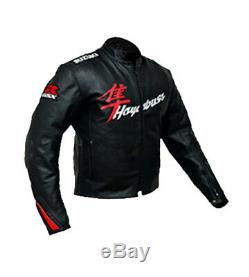 SUZUKI HAYABUSA Motorbike Leather Jacket Racing Biker Motorcycle Leather Jackets