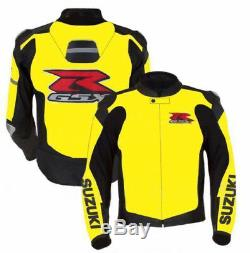 SUZUKI Motorbike/Motorcycle Leather Jacket MOTOGP Racing Biker Leather Jackets
