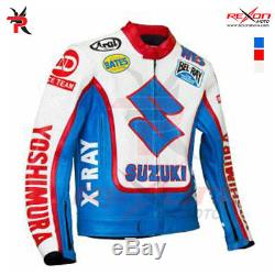SUZUKI Yoshimura X-RAY Sports Motorcycle Biker Leather Jacket