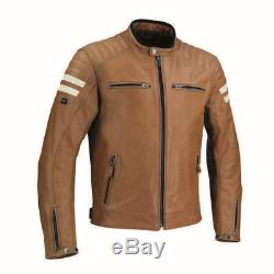 Segura STRIPE Leather Motorcycle Motorbike Jacket CAMEL Ex Display X-Large