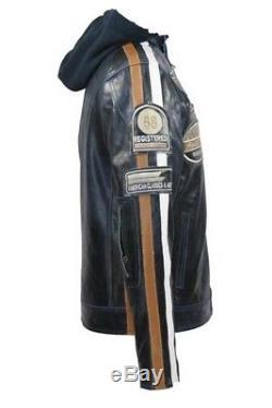 Semi Motor Bike/ Harley Highway Black Jacket (Crunch Split Leather) By. RunnerUp