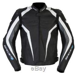 Spada Corsa Gp Black White Leather Motorcycle Sports Jacket Rrp £239.99