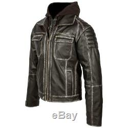Spada Peacedog Leather Motorcycle Jacket Waterproof Motorbike Cruiser Jackets